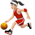 ⛹🏻‍♀️ woman bouncing ball: light skin tone Emoji on Apple Platform