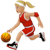 ⛹🏼‍♀️ woman bouncing ball: medium-light skin tone Emoji on Apple Platform