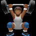 🏋🏾 person lifting weights: medium-dark skin tone Emoji on Apple Platform