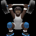 🏋🏿 person lifting weights: dark skin tone Emoji on Apple Platform
