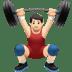 Light Skin Tone Man Lifting Weights