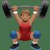 Medium Skin Tone Man Lifting Weights