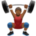 🏋🏾‍♂️ man lifting weights: medium-dark skin tone Emoji on Apple Platform