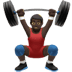 Man Lifting Weights: Dark Skin Tone