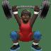 Dark Skin Tone Man Lifting Weights