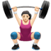 Woman Lifting Weights: Light Skin Tone