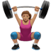 Woman Lifting Weights: Medium Skin Tone