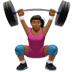 Medium Dark Skin Tone Woman Lifting Weights