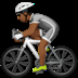 Medium Dark Skin Tone Person Biking