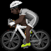Person Biking: Dark Skin Tone