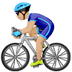 🚴🏼‍♂️ Medium Light Skin Tone Man Biking Emoji on Apple Platform