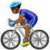 Medium Dark Skin Tone Man Biking