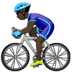 Dark Skin Tone Man Biking