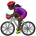🚴🏿‍♀️ woman biking: dark skin tone Emoji on Apple Platform