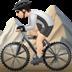 🚵🏻 person mountain biking: light skin tone Emoji on Apple Platform