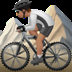🚵🏽 person mountain biking: medium skin tone Emoji on Apple Platform
