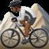 🚵🏾 person mountain biking: medium-dark skin tone Emoji on Apple Platform