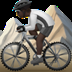 Person Mountain Biking: Dark Skin Tone