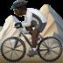 🚵🏿 person mountain biking: dark skin tone Emoji on Apple Platform