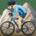 🚵🏻♂️ man mountain biking: light skin tone Emoji on Apple Platform