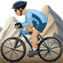 Medium Light Skin Tone Man Mountain Biking