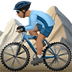🚵🏽‍♂️ man mountain biking: medium skin tone Emoji on Apple Platform