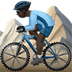 🚵🏿‍♂️ man mountain biking: dark skin tone Emoji on Apple Platform