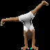 Medium Dark Skin Tone Person Cartwheeling