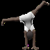 Person Cartwheeling: Dark Skin Tone