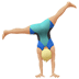🤸🏼‍♂️ man cartwheeling: medium-light skin tone Emoji on Apple Platform