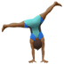 🤸🏾‍♂️ Medium Dark Skin Tone Man Cartwheeling Emoji on Apple Platform