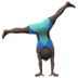 🤸🏿‍♂️ Dark Skin Tone Man Cartwheeling Emoji on Apple Platform