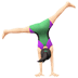 🤸🏻‍♀️ woman cartwheeling: light skin tone Emoji on Apple Platform