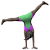 Woman Cartwheeling: Dark Skin Tone