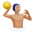 🤽🏼‍♂️ man playing water polo: medium-light skin tone Emoji on Apple Platform