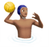 Man Playing Water Polo: Medium Skin Tone