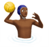 Man Playing Water Polo: Medium-dark Skin Tone