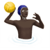 Man Playing Water Polo: Dark Skin Tone