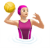 🤽🏻‍♀️ woman playing water polo: light skin tone Emoji on Apple Platform
