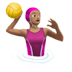 Woman Playing Water Polo: Medium Skin Tone