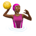 Woman Playing Water Polo: Medium-dark Skin Tone