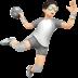 Person Playing Handball: Light Skin Tone