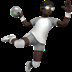 Person Playing Handball: Dark Skin Tone