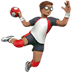 🤾🏽‍♂️ man playing handball: medium skin tone Emoji on Apple Platform