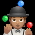🤹🏽 person juggling: medium skin tone Emoji on Apple Platform