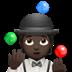 🤹🏿 person juggling: dark skin tone Emoji on Apple Platform