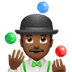 🤹🏾‍♂️ man juggling: medium-dark skin tone Emoji on Apple Platform