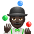 🤹🏿‍♂️ man juggling: dark skin tone Emoji on Apple Platform