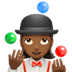 🤹🏾‍♀️ woman juggling: medium-dark skin tone Emoji on Apple Platform