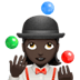 🤹🏿‍♀️ woman juggling: dark skin tone Emoji on Apple Platform